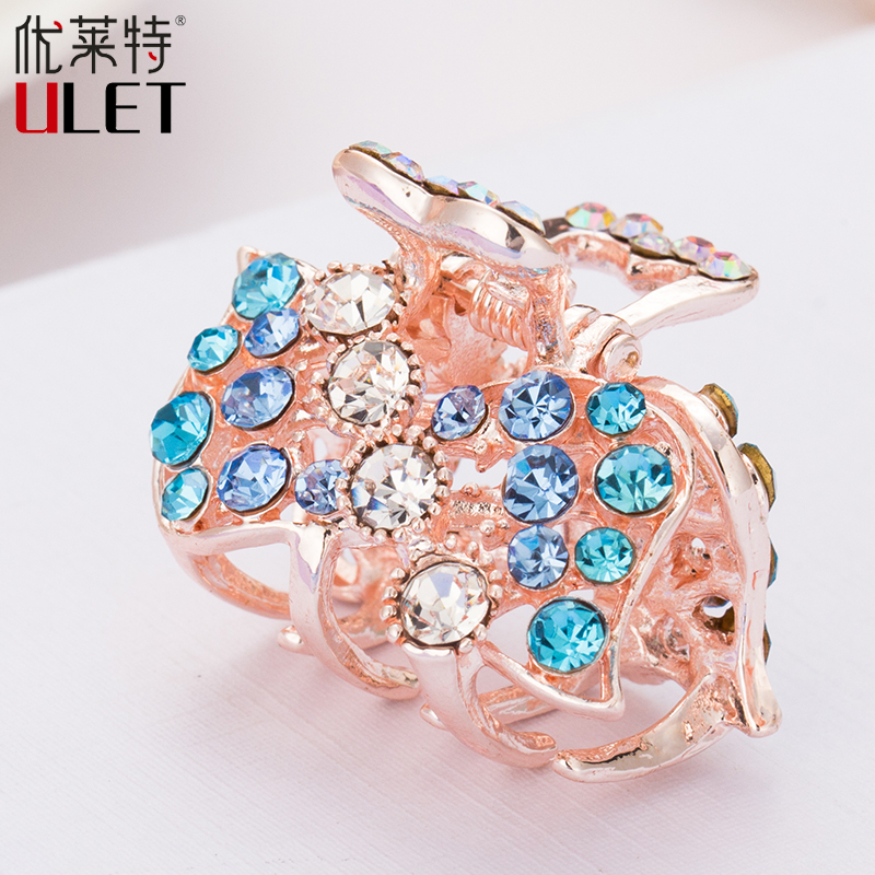 Hair Ornaments Claws Headwear Accessories Girls Imitation Crystal Metal Bow Hair Claws Clip Crab Claw ULET Hair Clips for Women 1 set new girls colorful carton hair clips small crabs hair claw clips mini hairpin kids hair ornaments claw clip