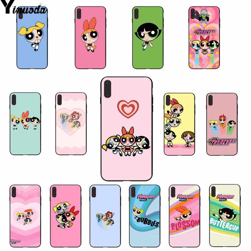 Yinuoda The Powerpuff Girls Custom Photo Soft Phone Case for iPhone 8 7 6 6S Plus 5 5S SE XR X XS MAX Coque Shell