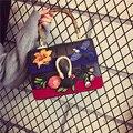 Moda bordado nacional bolsa das mulheres Da alta qualidade Ms coringa temperamento Floral saco do vintage saco bonito ombro
