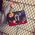 Women's fashion national embroidery handbag The high quality Ms temperament joker vintage bag Floral cute shoulder bag