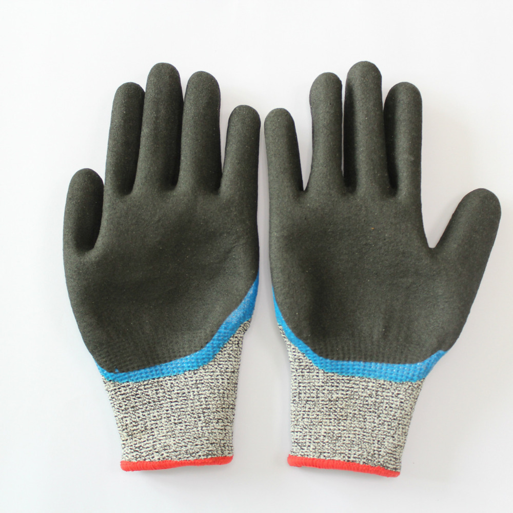 Nylon nitrile dipping working safety Protective gloves dipped labor Work gloves black mechanic anti-static Nitrile coated gloves free shipping abrasion king nitrile labor work gloves hanging plastic adhesive anti slip wear cut