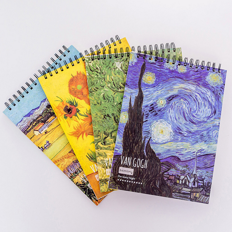 send by random color 1pcs A4 Van Gogh Artist watercolor paper Sketch Book For Oil Paiting Drawing Diary Creative Notebook Gift freeshipping 200ml series2 terrence royal van gogh oil paints colour plus oil pigment van gogh aluminum professional for master
