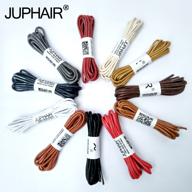 JUP 3 Pair Shoelaces Round Waxed Laces for Leather Couple Shoes Waterproof Cotton Laces Snow Martin Boots Lace shoelace 60-180cm round snow ice climbing mountaineering shoes crampons orange pair