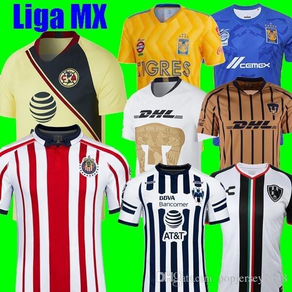 420fa644e Thailand 2018 2019 LIGA MX Club America CHIVAS Guadalajara UNAM TIGRES UANL soccer  Jersey Club de Cuervos Monterrey 18 19 shirts