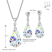 Neoglory Jewelry Sets MADE WITH SWAROVSKI ELEMENTS Crystal Transparent Necklaces & Earrings Wedding For Women 2017 New Gifts T1