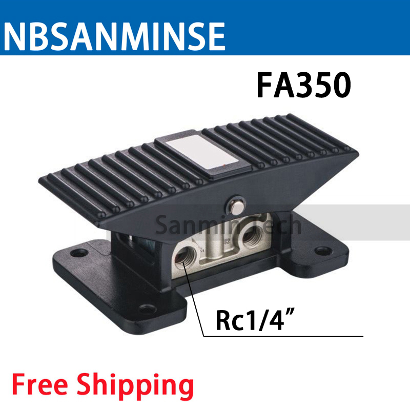 Free Shipping FA 350 Pneumatic Mechanical Valve 1/4 Mechanical Control Valve 5 Port 3 Way Pedal Valve Foot Valve NBSANMINSE free shipping fa 350 pneumatic mechanical valve 1 4 mechanical control valve 5 port 3 way pedal valve foot valve nbsanminse