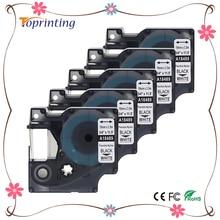 Labelife 5 упак. 18489 Rhino 19 мм гибкие этикетки нейлон черный на белом S0718120 для dymo labelwriter и промышленные этикетки производители