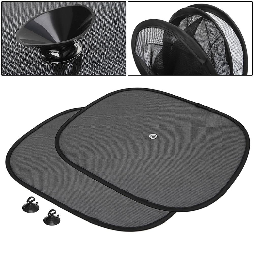 New 1 Pair Black Side Auto Car Window Sunshade Sun Shade Visor Side Mesh Cover Shield Sunscreen Car Accessories