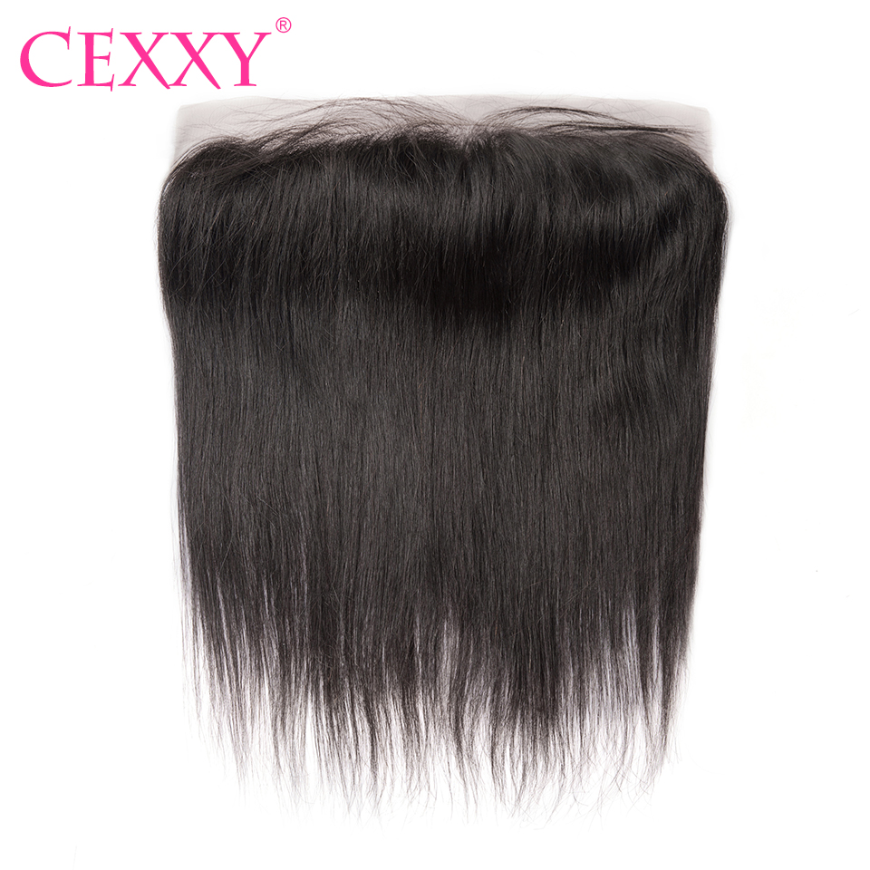 CEXXY Hair Lace Frontal Closure Peruvian Remy Hair Straight Lace Frontal 13x4 Natural Color Free Shipping