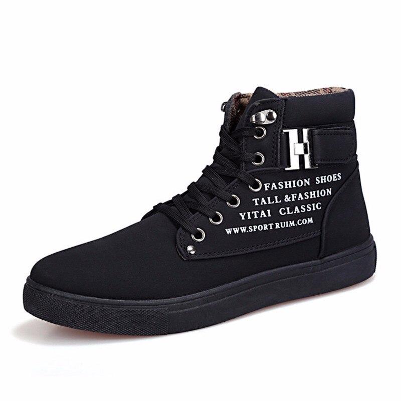 De Hommes all Automne Britannique Bottes Chaussures Black White Nouvelle brown Cheville Neige And Paire Hiver Black green Occasionnels Talon Style grey 1 Toile Plat khaki Marque 0FgPwXxq