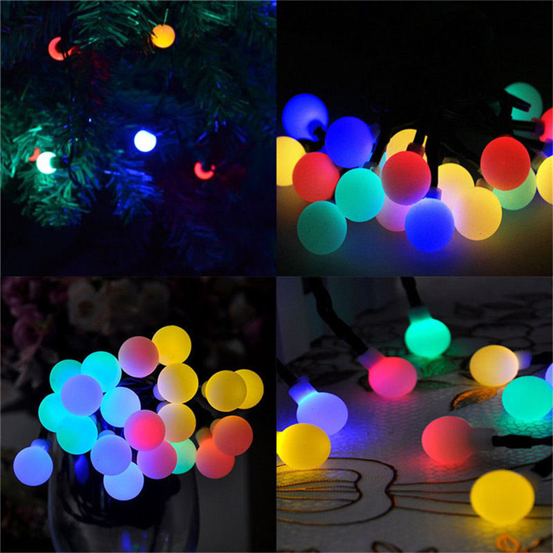 Image 2 - 10M 100 LED Solar Lamps LED String Fairy Lights Garland Christmas Solar Lights For Wedding Garden Party Decoration Outdoor-in LED String from Lights & Lighting on