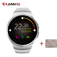 LEMFO KW18 Bluetooth Smart Watch Heart Rate Monitor wearable devices Support SIM TF Card smart watch for android ios