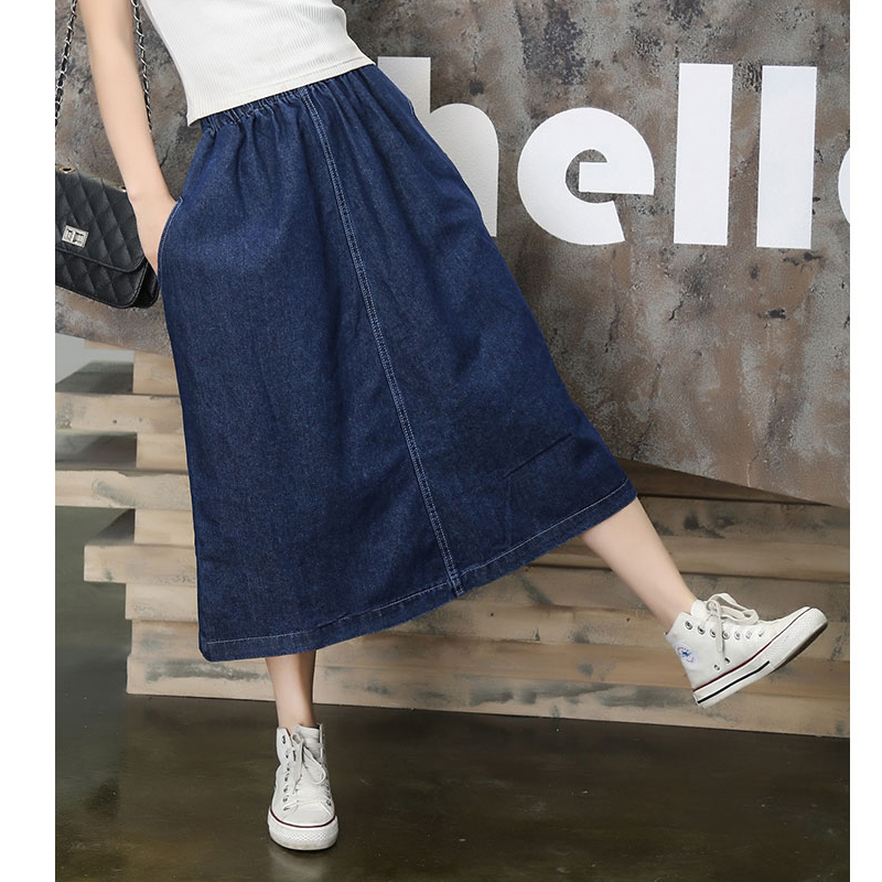 2016 New Fashion Summer Denim All match Loose A line Jeans ...