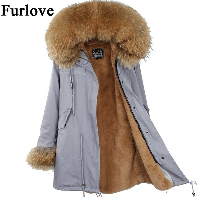 New Womens Winter Jacket Women Coat Jackets Real Raccoon Fur Collar
