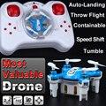 Pequeño bolsillo mini remote control rc helicóptero drone quadcopter quad copter toys vs cheerson cx-10 estrellas cx h20 fq777-124 fswb