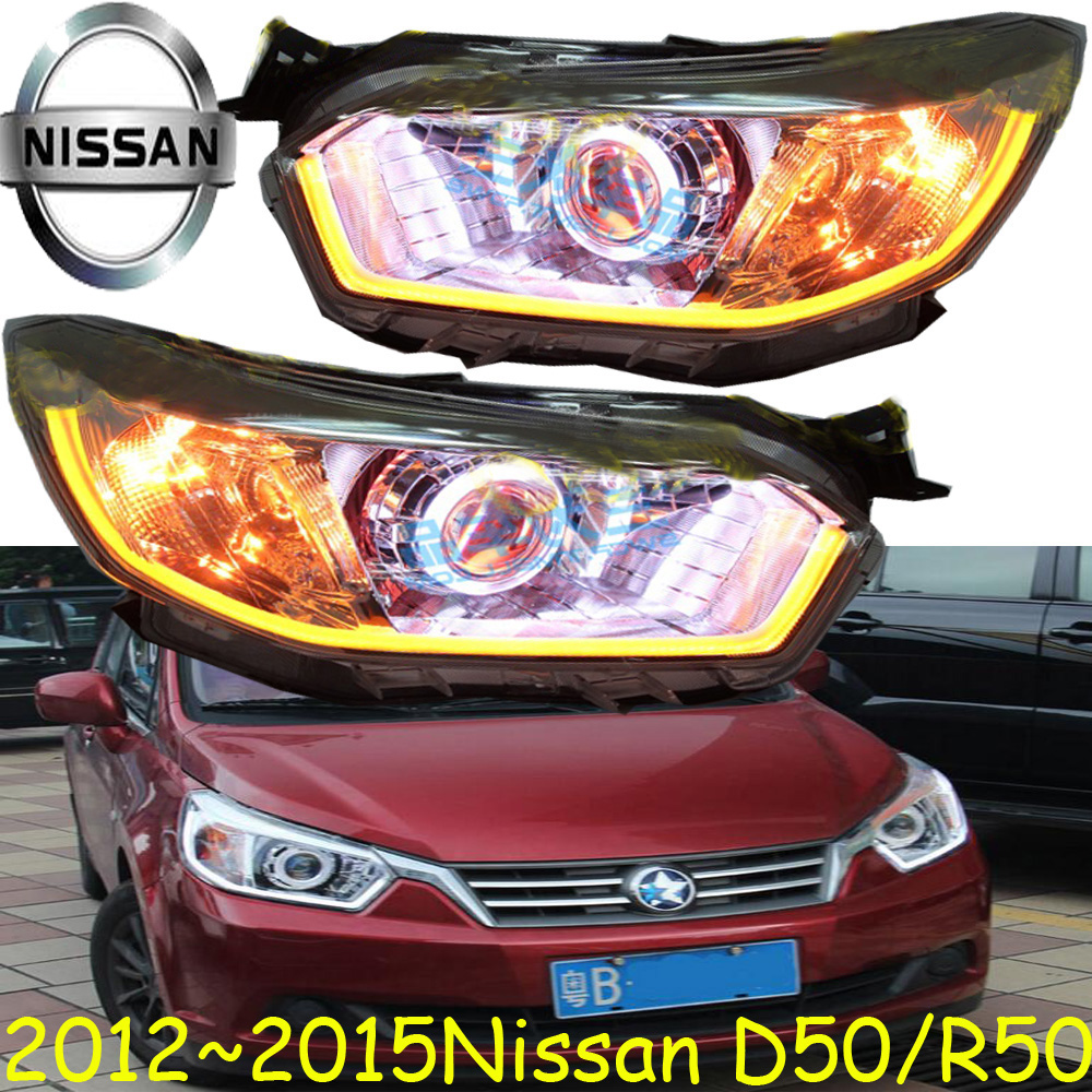 D50 headlight,2012~2015,(LHD/RHD),Free ship! D50 fog light,2ps/set+2pcs Ballast, sylphy,T70,T90,March,D50 R50 teana fog light 2pcs set led sylphy daytime light free ship livina fog light