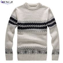 Men's pullover turtleneck, thick-knit woollen tunic, straight tube jacquard sweater, winter warmth, high quality, free shipping