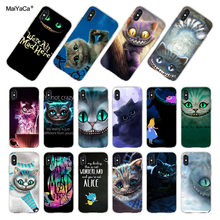 MaiYaCa para iphone XR XS MAX 7 8 Plus Alicia en el país de las Maravillas gato Cheshire funda de teléfono para iphone 8 7 6 6 S Plus X(China)