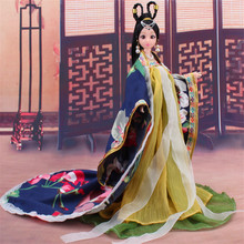Traditional Chinese Dolls Girls Toy Ancient Collectible Beautiful Vintage Style Princess Ethnic Doll with Dress Gifts(China)