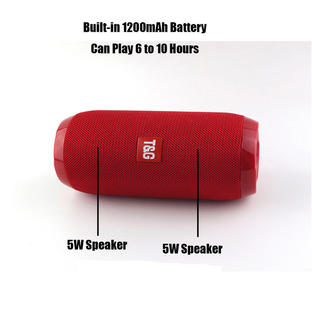 Portable Wireless Bluetooth Speaker Outdoor Stereo Bass USB TF FM Radio Audio Wireless Speaker Bluetooth