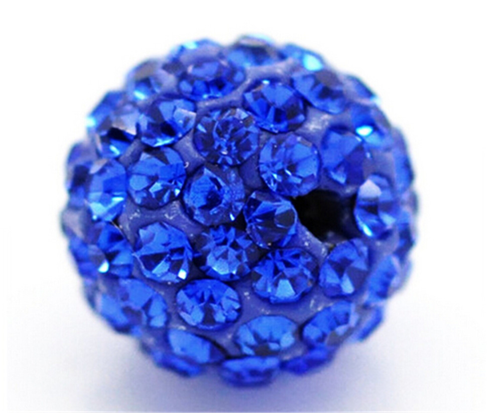 Beads Candid 8mm 50pcs Royal Blue Disco Balls Polymer Clay Beads Pave Czech Rhinestones Shamballa Beads Premium Quality Spacer Beads Beads & Jewelry Making