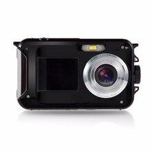 24MP Двойной ЖК-Экран HD Компактная Цифровая Камера 16x Зум CMOS Мини Видеокамера Мини Камеры Micro Камеры