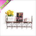 Vintage iron wall shelf wood bookcase creative support bracket racks Stands wall mount bracket shipping