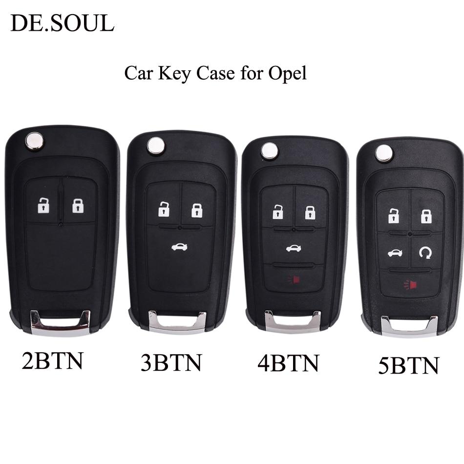 DE,SOUL Folding Car Key Shell Remote Flip Key Fob Case For Opel Vauxhall Astra H Insignia J Vectra C Corsa D Zafira G 5 speed car black gear knob chrome cap top for vauxhall opel astra iii h corsa d 04 10