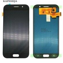 Яркость можно настраивать ЖК-дисплей для Samsung Galaxy A5 2017 ЖК-дисплей A520 SM-A520F ЖК-дисплей Дисплей Сенсорный экран планшета Ассамблеи