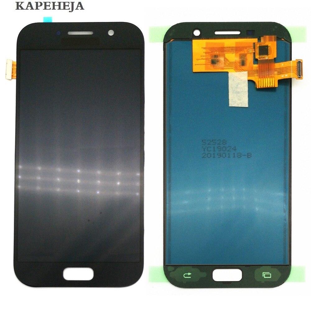 Pode ajustar o brilho lcd para samsung galaxy a5 2017 lcd a520 SM-A520F display lcd tela de toque digitador assembléia