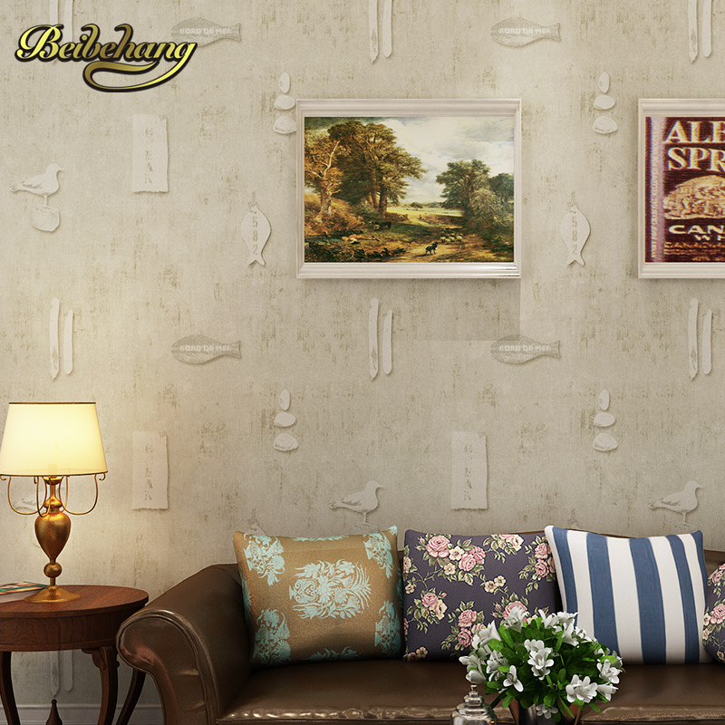 beibehang wall paper bedroom wallpaper shop for retro nostalgic American country style living room wallpaper backdrop Spec new household decorates nostalgic american country pure paper wallpaper restoring ancient ways brush paint process living room