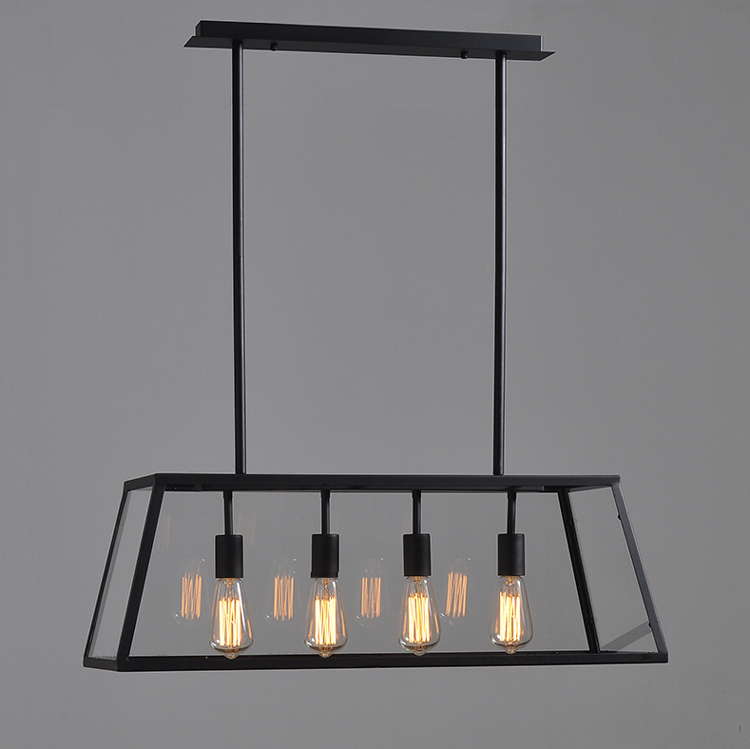 Ems Shipping Vintage Chandelier Iron Matte Black Body