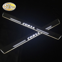 SNCN 4PCS Car LED Door Sill For Opel Corsa B D E 2016 2017 2018 Ultra thin Acrylic Flowing LED Welcome Light Scuff Plate Pedal
