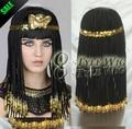 Cleopatra peinado peluca de pelo trenzado, egipto geografía reina cosplay peluca, el Gran Egipcio Cleopatra Real Personalizado peluca Sintética
