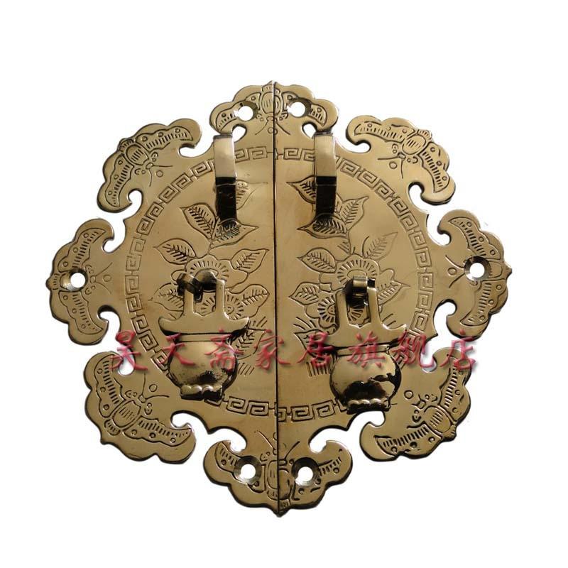 [Haotian vegetarian] Chinese antique bronze double doors opened door handle copper brand HTB-094 storm 47386 s