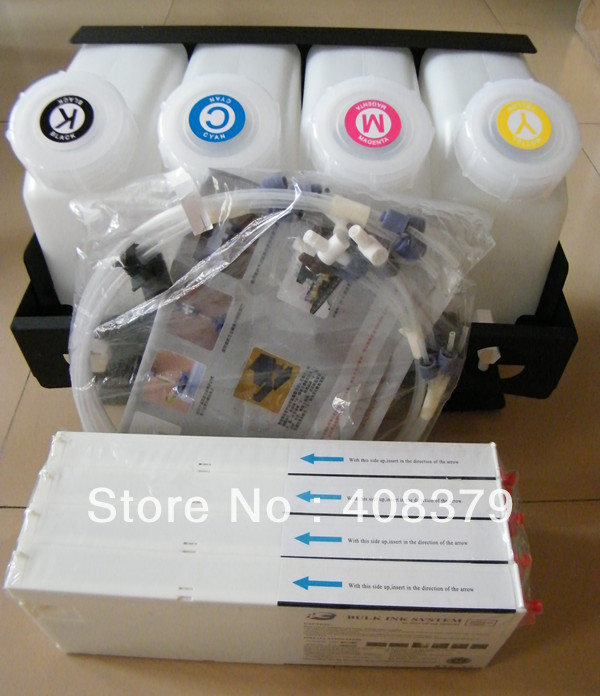 4 color bulk ink system with inkbag cartridge for Mutoh RJ900/RJ1204/1604 printer