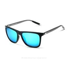 Las mujeres de los hombres retro de aluminio + tr90 gafas de sol polarizadas gafas de sol gafas de diseñador de la marca veithdia lunette de soleil