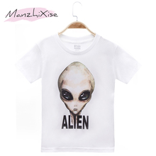 2019 New Product Children Clothes Kids T-shirts  E.T. Alien Print 100% Cotton Child Boy T Shirt Baby Girls Top Tee Free Shipping