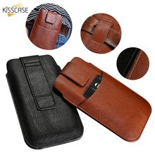 KISSCASE Fashion Waist Leather Belt Phone Case For iPhone 11 2019 7 XR XS MAX X 6S Card Slot Cover 6 8 Plus 5 5S