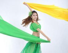 Belly Dancing Costumes chiffon yarn scarf Solid Dance Veils Stage Performance Props Accessories