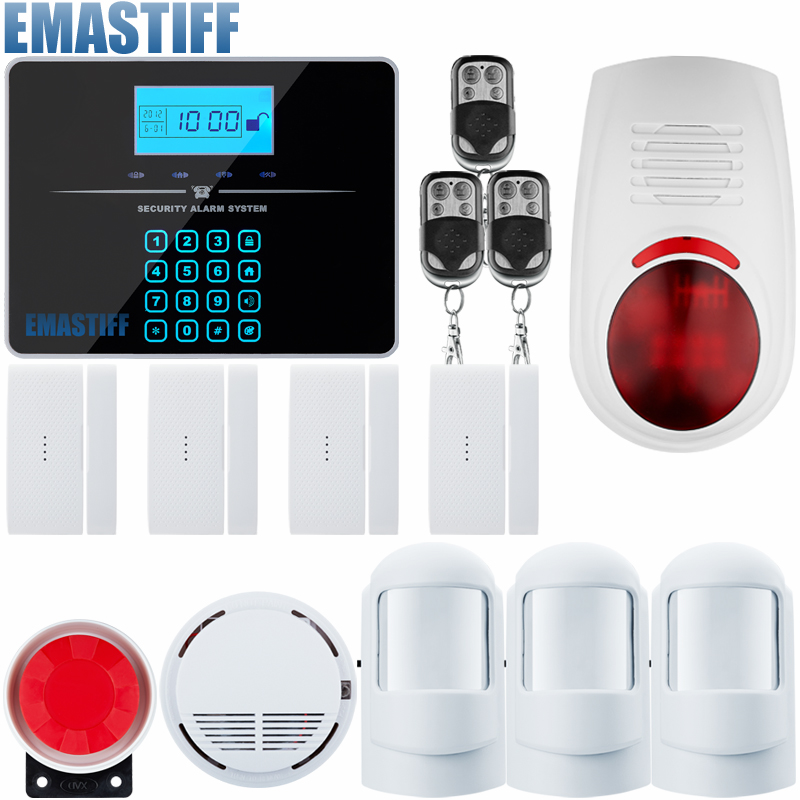 DHL EMS Free Android IOS APP 433Mhz Sensor Dual-network GSM PSTN Call LCD Smart Display+Touch Keypad Home Burglar Security Alarm free shipping new family guard android ios app 433mhz sensor gsm sim call lcd smart dislay keypad home burglar security alarm