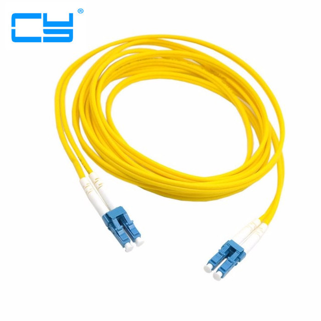 Dual LC to LC Fiber Patch Cord Jumper Cable SM Duplex Single Mode Optic for Network 3m 5m 10m 20m 10ft 16ft 33ft 66ft