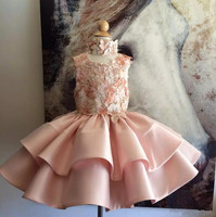 Custom Made Sweet Flower Girls Dresses For Weddings Jewel Sleeveless Ruffle Girls Party Wears Appliques Beads