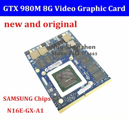 DHL/EMS livraison gratuite nouvelle carte graphique d'origine GTX 980 M GTX980M avec support X N16E-GX-A1 8 go GDDR5 MXM pour Dell Alienware MSI HP