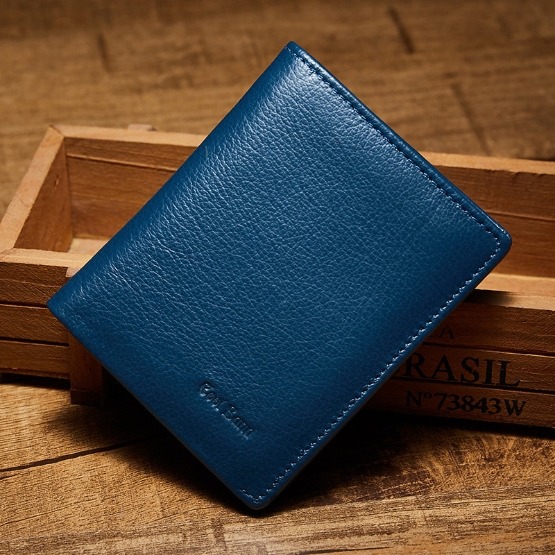 Luxury 100% Genuine Leather Wallet Men Wallets Fashion Brand Male Wallet Casual Solid Small Purse Wallet Men Card Holder wolf head men wallets genuine leather wallet fashion design brand wallet leather man card holder purse