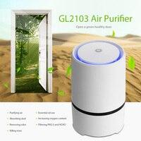 GL2103 Mini USB Air Purifier Compact Odor Allergen Eliminator Anion Sterilization Purifier for Home Office Dust Smoke Pets