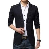 כניסות חדשות 2016 מותג יוקרה בליזר טלאים Mens טרייל Mens שני כפתורי עיצוב מקרית Slim Fit בלייזר מקטורן חליפת גברים גברים