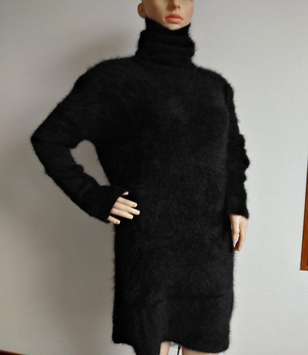 New women's mink cashmere sweater knitted sweater long length dress sweater ladies coat free delivery JN461