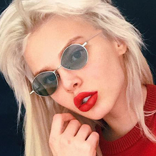 b182cc3361e Women Oval Sunglasses fashion Sunglasses Men Women Vintage Retro Female  Male Clear Lens Sun Glasses uv400