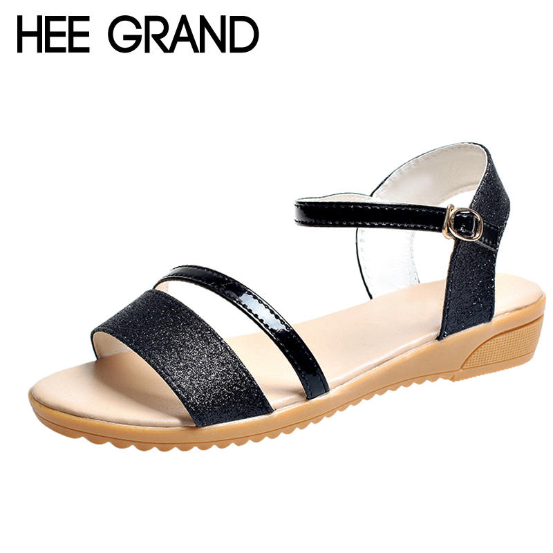HEE GRAND Glitter Wedges Gladiator Sandals 2018 Summer Style Creepers Platform Shoes Woman Gold Silver Women Shoes XWZ4606 gladiator sandals 2017 summer style comfort flats casual creepers platform pu shoes woman casual beach black sandals plus us 8